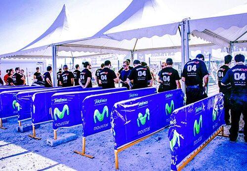 Personal de seguridad WO para evento Movistar